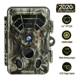 16MP Trail Camera Deer Bear Hunt Game Cam Low Glow Night Vision Motion Activated