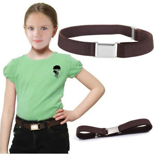 Children Solid Leather Elastic Waistband Belt Clothing Accessories Multi-color Q
