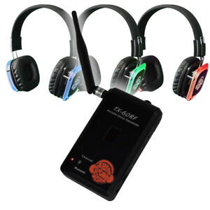 BEST Silent Disco Yoga Package: Portable Transmitter w Mic + Bluetooth