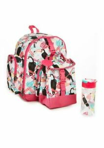 Fit & Fresh, Lola Backpack, Lunch Bag, Water Bottle, Ice Pack Set - Pink Toucan