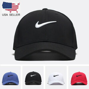 New Adjustable Fit Nike Golf Baseball Cap Swoosh Front Fit Poly Unisex Women Men