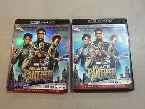 Black Panther (4K Ultra HD and Blu-ray) No Digital - W SLIPCOVER - VERY GOOD