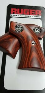 Ruger Single Six Black Hawk Factory Wood XR3-Red Grips New Part Free Shipping