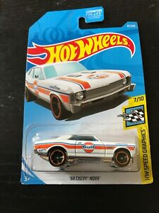 HOT WHEELS : 1968 '68 CHEVY NOVA WHITE 7/10 BNIP 67/250