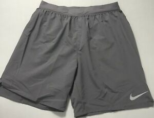 "Nike Men's Flex Stride 7"" Brief Lined Running Shorts AT4014 Gray 056 Size L $32.99"