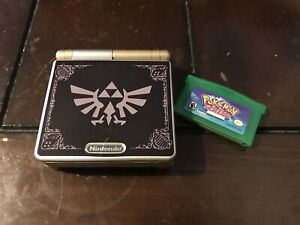 Nintendo Gameboy Advance SP Handheld Console - GoldZelda AGS 101 CLEANEDTESTED