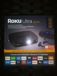 Roku Ultra HD 4K Media Streamer 4661R - 2018 Edition - Brand New - Black