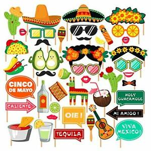 Mexican Fiesta Party Supplies, Photo Booth Props,Selfie For Southwestern Shower,