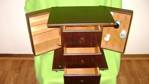 Antique Sewing Box Wood Rare Made in Romania # LGH.3 1986 Very Nice Sale $49.00