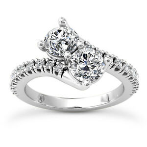 Solitaire 1.14 Carat SI1H Round Cut Natural Diamond Engagement Ring White Gold