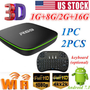 Lot R69 Home TV Box 1+8G2+16G H3 Quad Core Wifi HD Android Player + Keyboard US