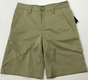 Under Armour Golf Loose Shorts Heat Gear 1330516 Tan 233 YOUTH Size 12 $22.99