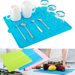 Nuovoware Silicone Dish Drying Mat Easy Clean Dishwasher Safe HeatResist Trivet