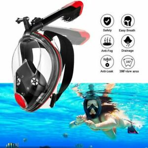 Adults 180° View Panoramic Beach Snorkel Mask Snorkeling Full Face+Camera Mount