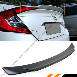 FOR 2016-19 HONDA CIVIC 4DR SEDAN MATT BLK JDM SMALL DUCKBILL TRUNK SPOILER WING
