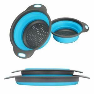 Kitchen Collapsible Colanders,Round Sink Strainers -Folding Strainer for Kitchen