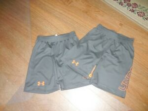 New Under Armour Shorts Size 6 GryOrg Toddler 5T 6T Lot 2 Twins Match BOYS