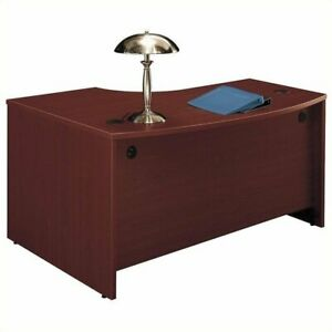 Series C 60W Right Handed Bow Front Desk in Mahogany - Engineered Wood