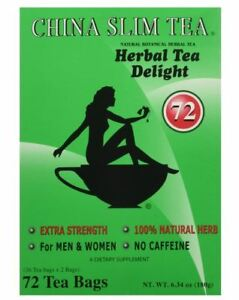 China Slim Tea Dieter's Delight extra srength 72 Tea Bags  EXPIRES 8/2023