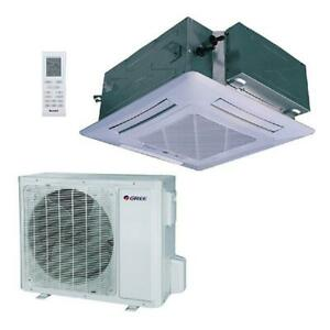 GREE UMAT24HP230V1AC S 24000 BTU Ceiling Cassette Mini Split AC Heat Pump