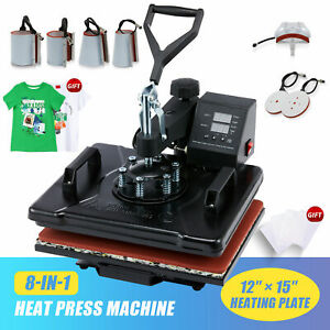 12quot;x15quot; 8 IN 1 Combo T Shirt Heat Press Transfer Machine Sublimation Swing Away $139.99