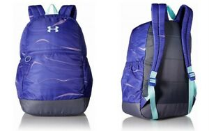 Under Armour UA Favorite Backpack Girls Bag 1277402 School Bag Purple  Gray