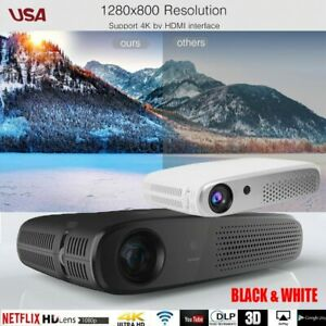 8600 Lumens 4K 3D DLP Wireless Home Theater Projector Android Portable Wifi HDMI