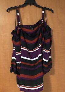 INC Top Size 3X Multicolor Pre Owned