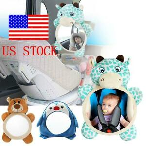 US Adjustable Wide View Rear Safety Seat Car Back Mirror Headrest Mount For Kids