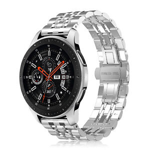 For Samsung Galaxy Watch 46mm / Gear S3 Band 22mm Metal Strap Butterfly Buckle