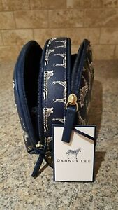 DABNEY LEE ANIMAL PRINT COSMETIC TRAVEL RETRO DOUBLE ZIPPED COMPARTMENT BAG #005