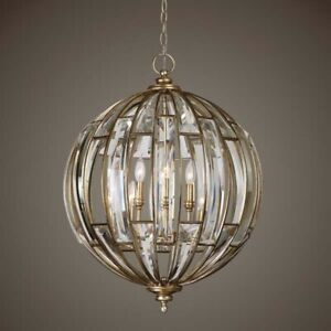 Elegant Crystal Sphere 6 Light Pendant Chandelier