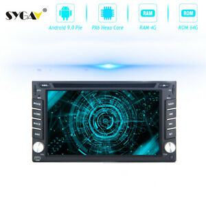 Android 9.0 Universal Double Din Car Stereo for Nissan Radio GPS Nav Head Unit