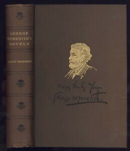 George Meredith: ADVENTURES OF HARRY RICHMOND 1888 Antiquarian Edition VG