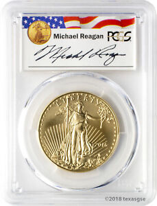 2016 $50 Gold Eagle PCGS MS70 - Reagan Legacy Series