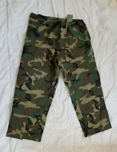 US ARMY WOODLAND CAMO GORE-TEX EXT. COLD WEATHER TROUSERS PANTS - NEW - XL REG