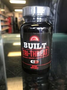 BUILT Tri-Threat 60 Caps 3 Compound PH Stack - Strength, Mass *FREE SHIPPING*