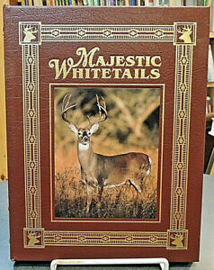 Majestic Whitetails Easton Press Leather Hunting Wildlife Nature Reference