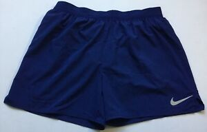 "Nike Men's Flex Stride 5"" Lined Running Shorts AT4000 Blue 492 Size L $32.99"