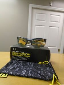 UNDER ARMOUR IGNITER 2.0 SUNGLASSES SATIN NAVY GRAY  GOLD MULTI