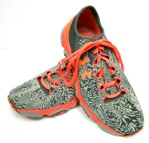 Under Armour Womens 6 Speedform XC Trail Sneakers Shoes Gray Orange Running $44.00