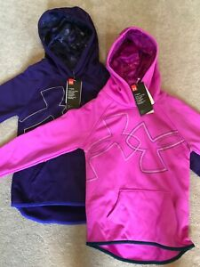 Girl's Youth Under Armour Hoodie NEW Size S M L XL Pink or Purple Retail $40.