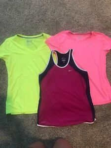 Nike Dri Fit Tank Top Shirt Lot Women's Medium Pink Purple Yellow