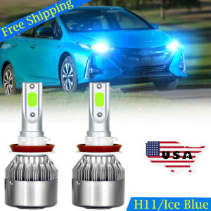 H11 Ice Blue LED Headlight Bulbs Low Beam For Toyota Prius 2010 2017 All Models $13.85