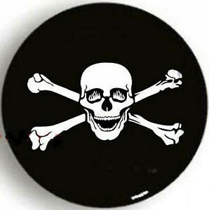 16 BLACK PIRATE BONE SKULL SPARE WHEEL TIRE COVER For Jeep Liberty Wrangler L