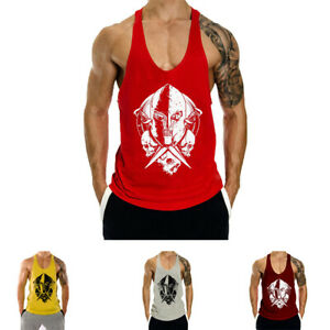 Summer Printing Gym Clothing Fitness Workout Mens Tank Tops For Sports $12.69