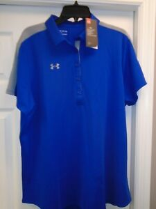 Under Armour COLORBLOCK Women's Golf Polo Shirt Sz: MD # 1295292 400