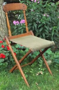 Antique Civil War Campaign Field Camp Chair For Officers c. 1865 Authentic