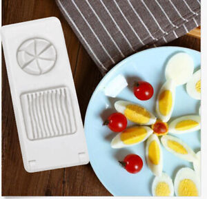 2 in1 Stainless Steel Egg Slicer Section Cutter Mold Tool Kitchen Chopper Tool