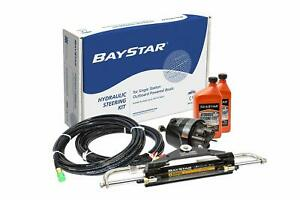 Baystar Kit HK4200A-3 Hydraulic Steering Kit with Compact Cylinder with 20' T...